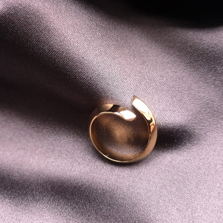 Elegant jewelry simple ring gold plated bena jewelry montreal fine jewelry designer