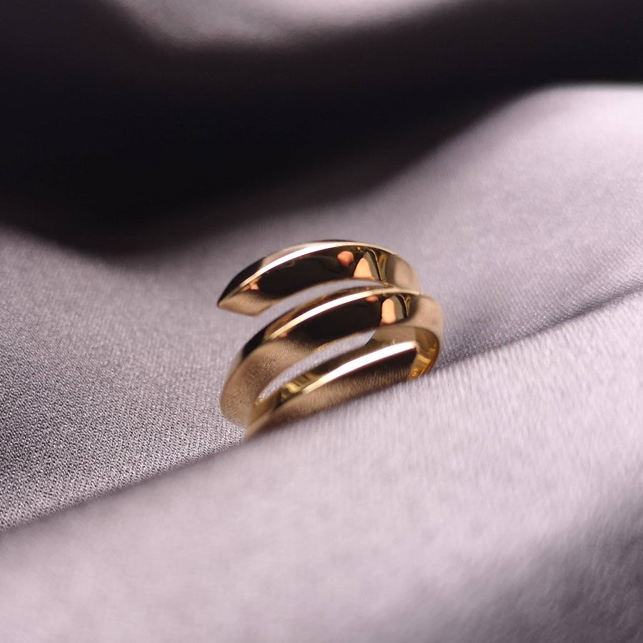 Elegant jewelry simple ring gold plated