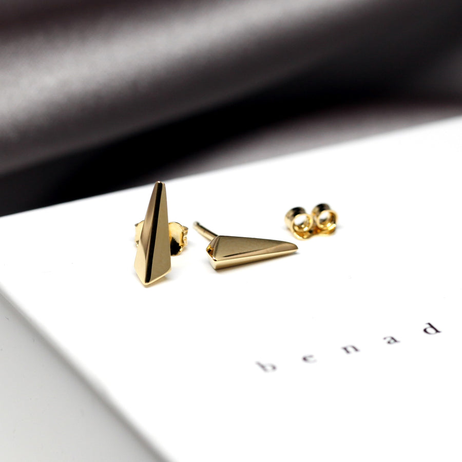 Gold Plated Small Pike Earrings