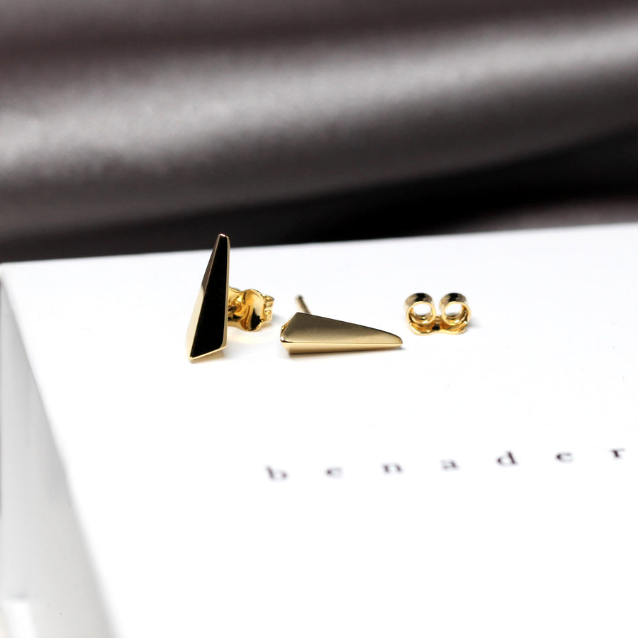 Gold Vermeil Small Pike Earrings