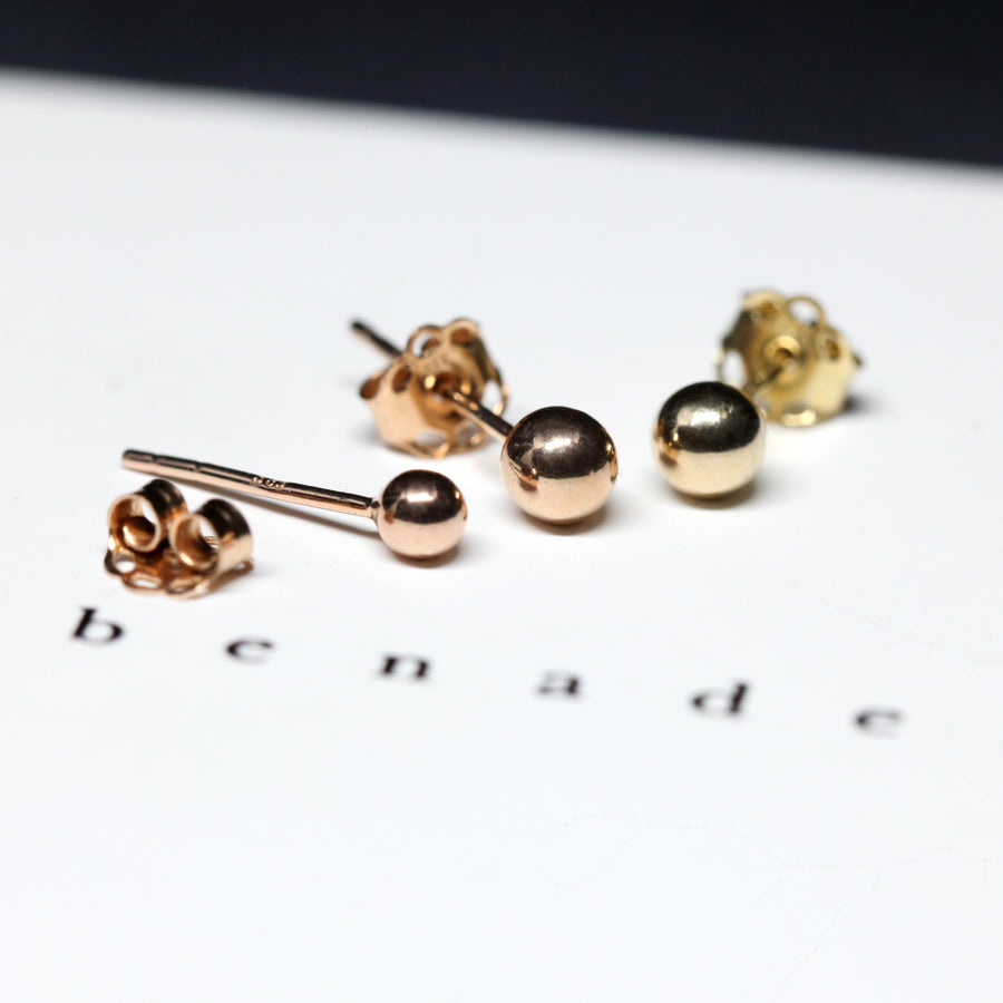 Set of Gold stud earrings rose gold yellow gold white gold jewelry