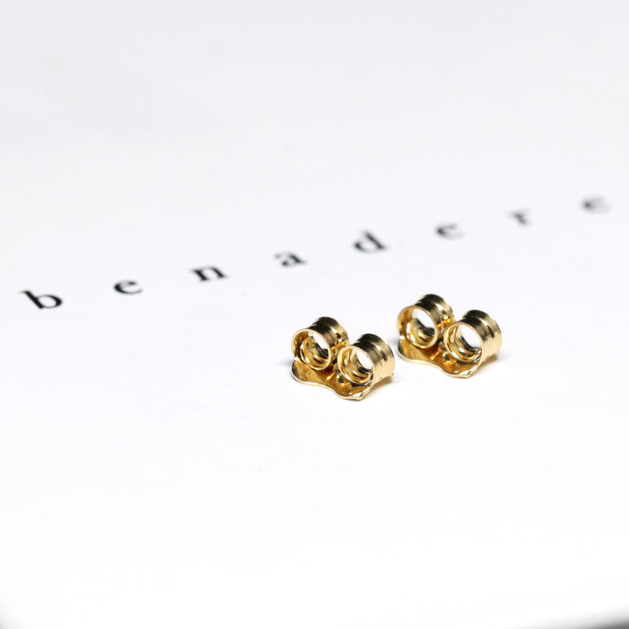 Yellow White & Rose Gold Nods Earrings - 14 kt