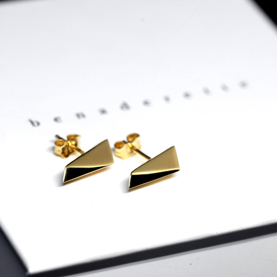 Gold Plated Pike Earrings