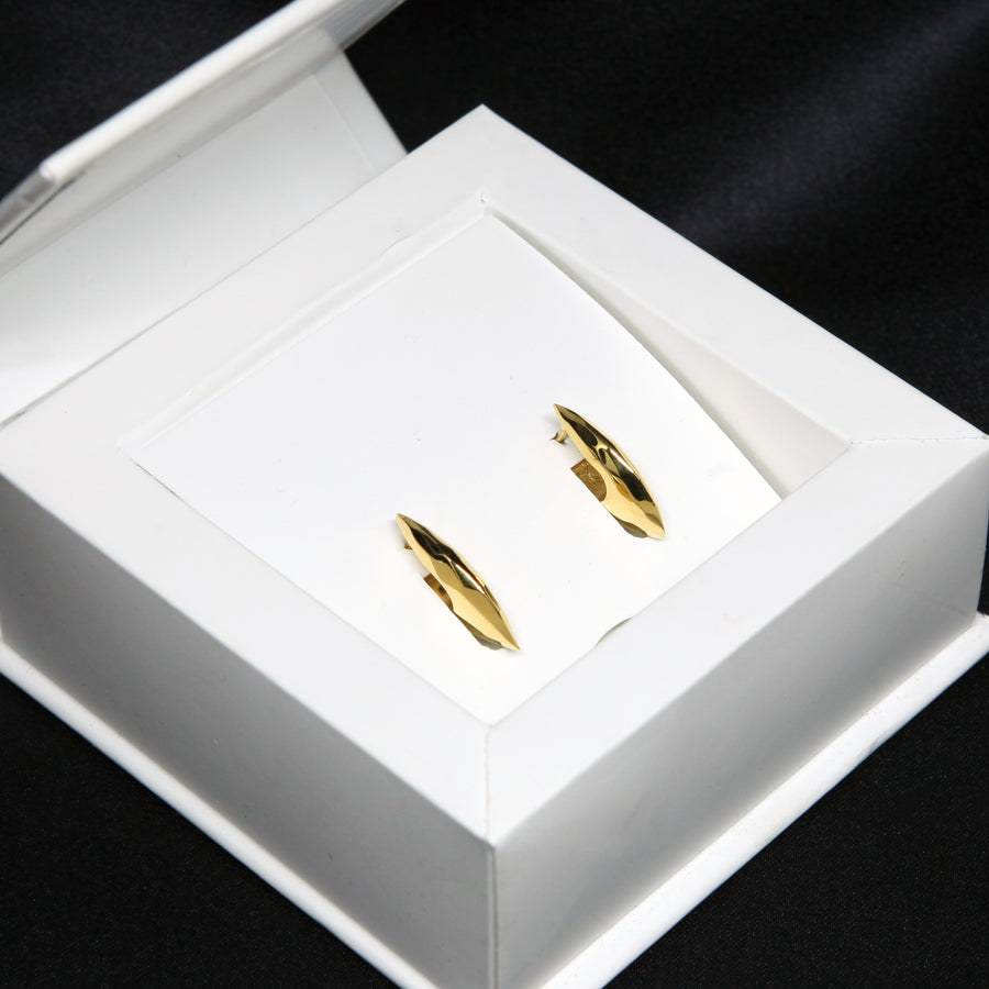 Yellow gold plated silver earrings box packaging montreal made in canada vermeil gold custom jewelry montreal made in canada