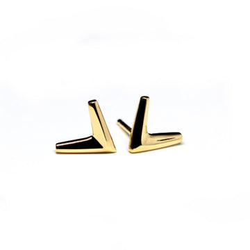 Gold Plated Small Arrow Earrings