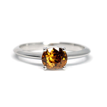 Oval Shape Natural Zircon White Gold Ring