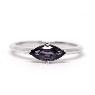 Marquise Cut Violet / Purple Spinel White Gold Ring