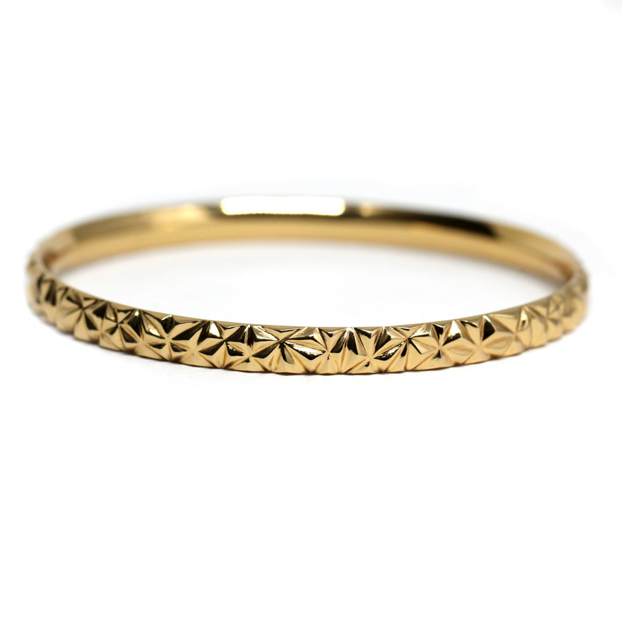 Signature Chiseled Gold Vermeil Bangle Bracelet