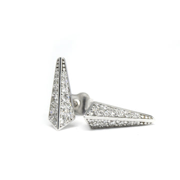 Diamond Small Pike White Gold Earrings - 0.30 ct