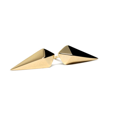 Gold Vermeil Spade Earrings