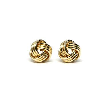 Yellow Gold Nods Earrings - 10 kt