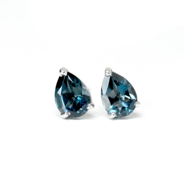 Small gemstone stud earrings blue topaz earrings bena jewelry edgy collection custom gemstone earrings bena jewelry montreal canada handmade fine jewelry blue gemstone jewelry handmade in monteal drop shape blue gemstone jewelry