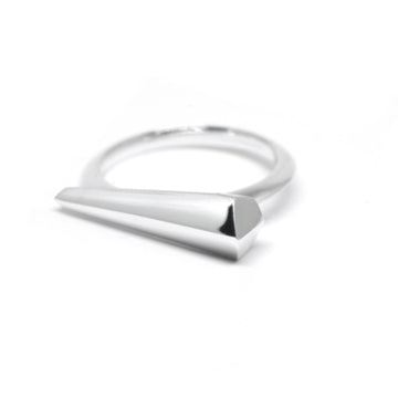 Silver Sharp Straight Ring