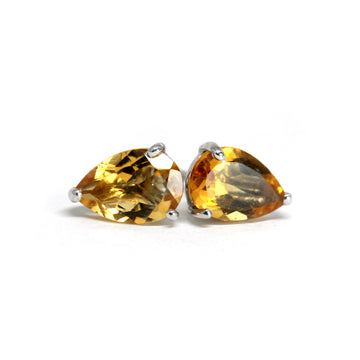 Pear Sharpe Large Citrine Stud Earrings