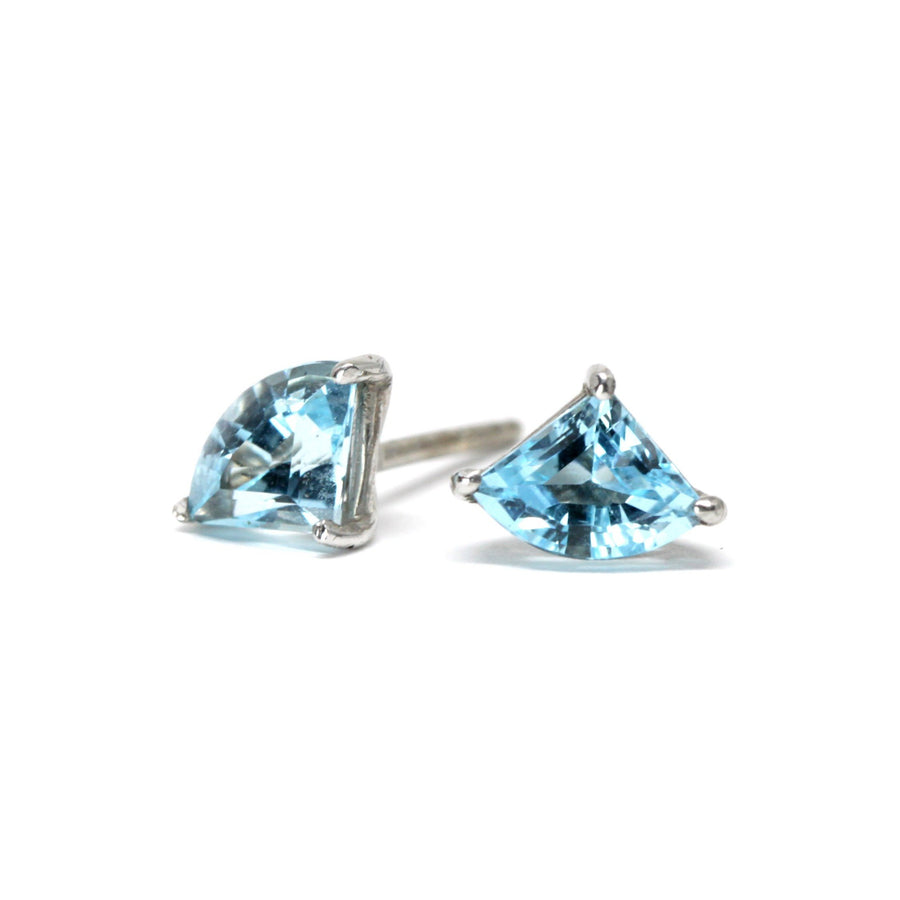 Swiss Blue Fancy Topaz Stud Earrings