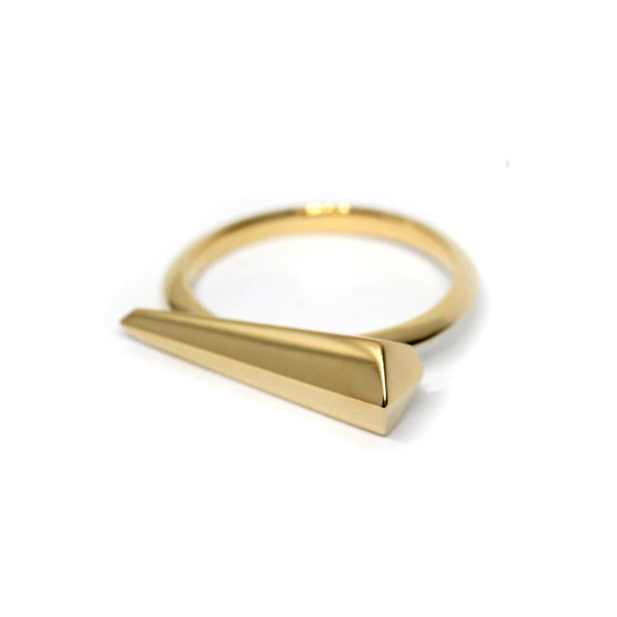 Gold Vermeil Sharp Straight Ring