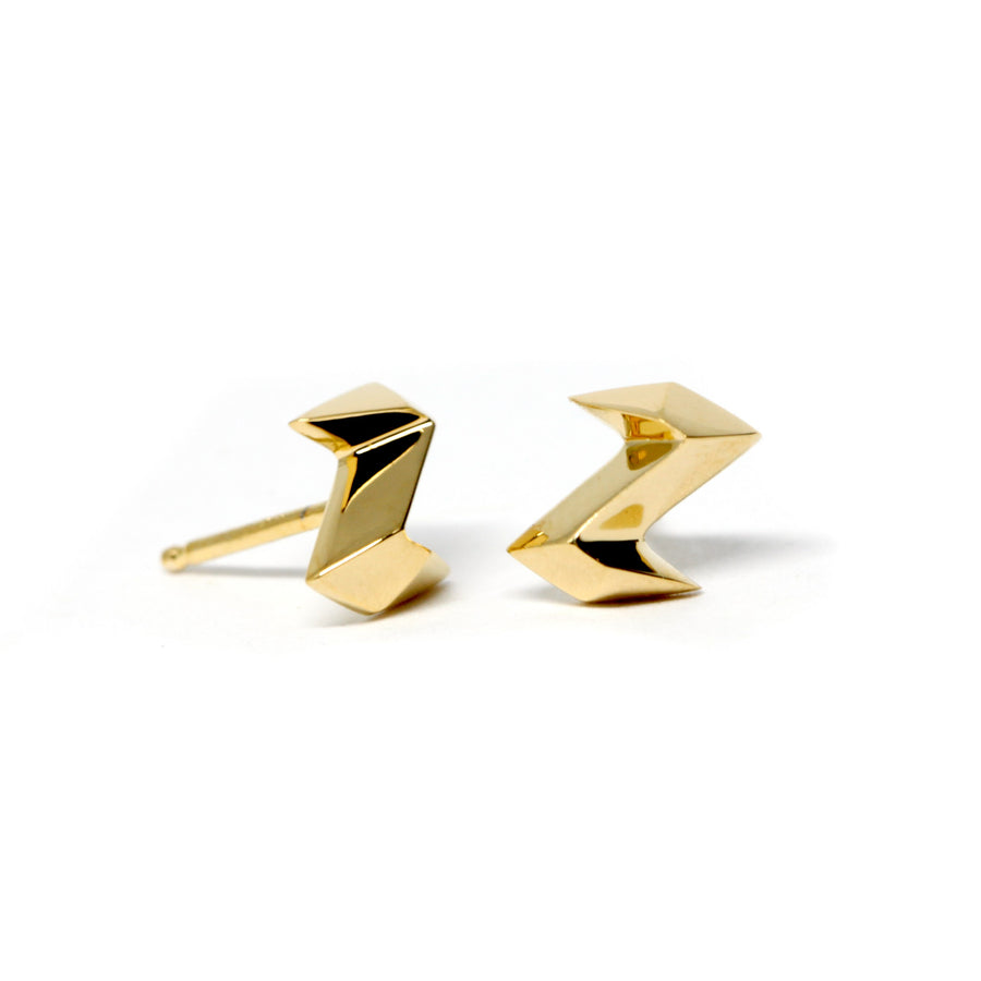 Gold Plated Thunder Earrings
