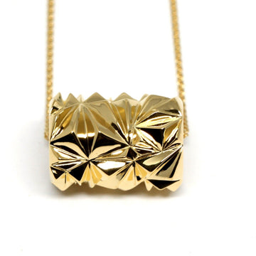 Gold Plated Large Pyramid Tube Pendant