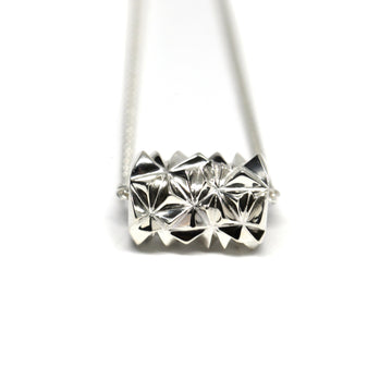 Silver Small Pyramid Tube Pendant