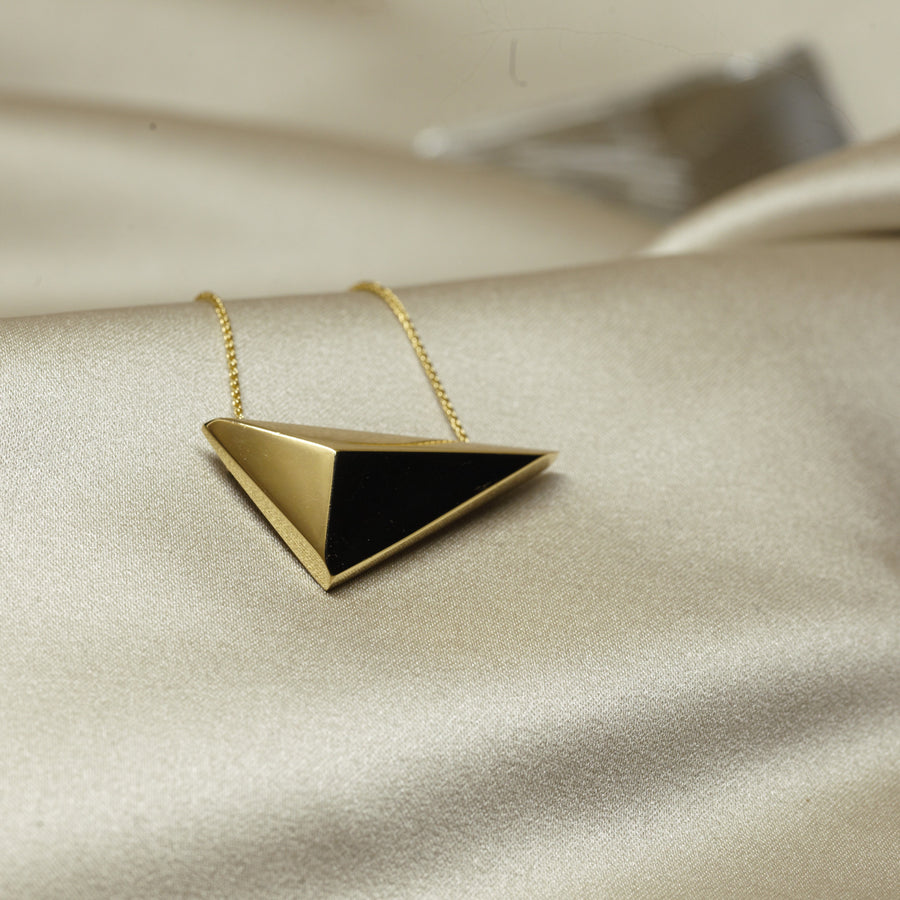 Statement gold plated pendant fine jewelry modern design