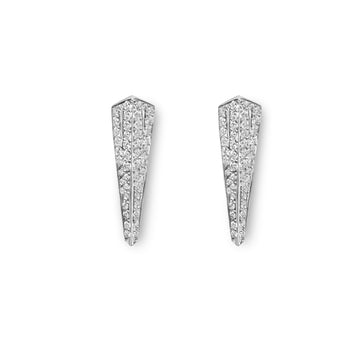14 kt white gold and diamond earrings. Fine Jewelry made in Canada