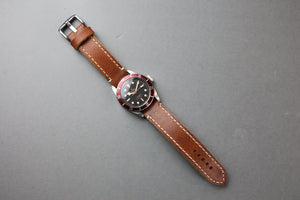 Classic Vintage Leather Watch Strap - Watch strap 20mm - Watch strap 22mm - Watch strap 24 mm - Watch strap 26mm