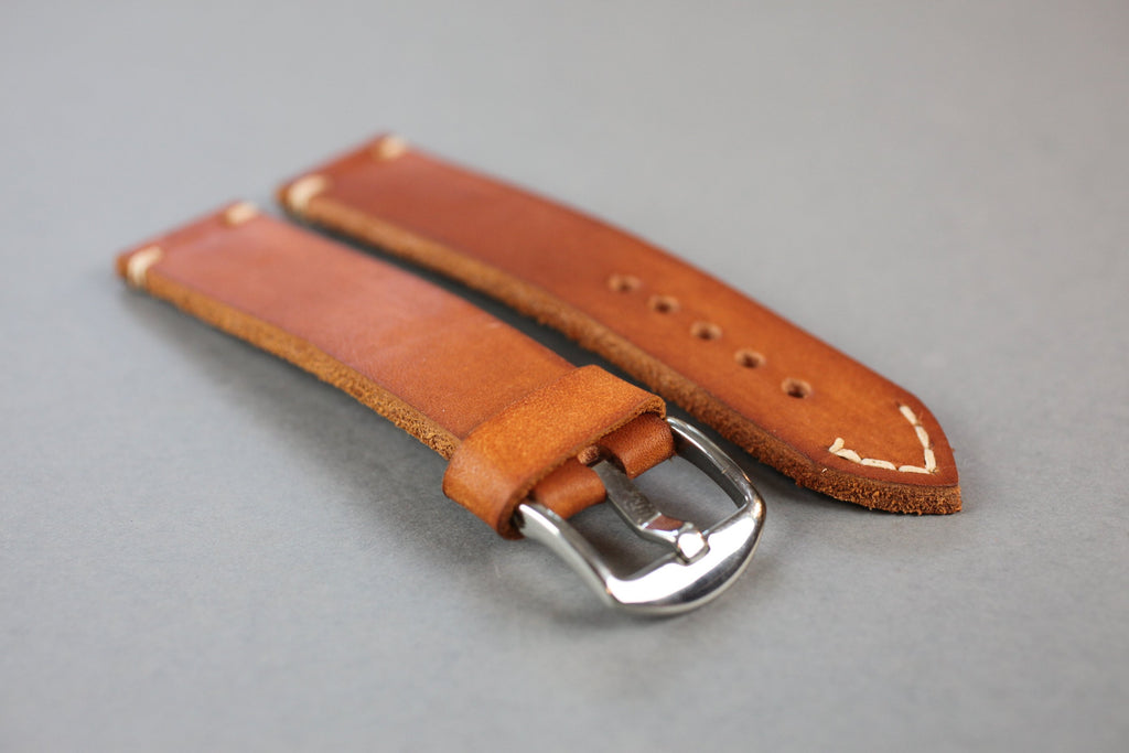 Milsub Leather Watch Strap - Vintage leather watch strap - Watch strap 20mm - Watch strap 22mm - Watch strap 24 mm - Watch strap 26mm