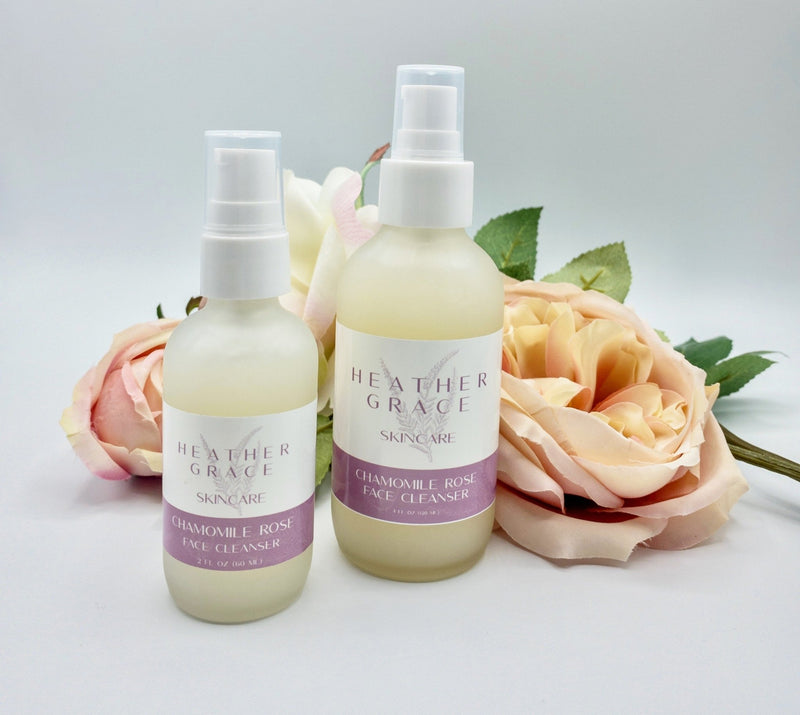 Chamomile Rose Face Cleanser - Heather Grace Skin Care
