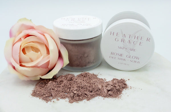 Rosie Glow Face Mask + Scrub - Heather Grace Skin Care