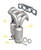Image of MagnaFlow 23085 - Heavy Metal Stainless Steel Exhaust Manifold with Integrated Catalytic Converter