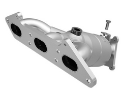 MagnaFlow 23540 - Heavy Metal Stainless Steel Exhaust Manifold with Integrated Catalytic Converter