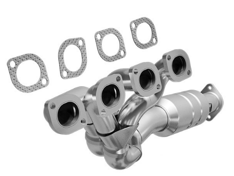 MagnaFlow 24194 - Heavy Metal Stainless Steel Exhaust Manifold with Integrated Catalytic Converter