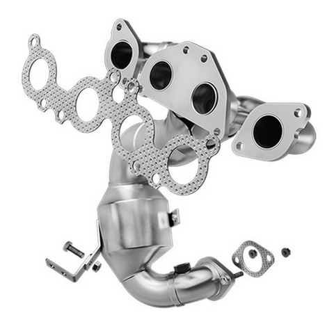 MagnaFlow 24363 - Heavy Metal Stainless Steel Exhaust Manifold with Integrated Catalytic Converter