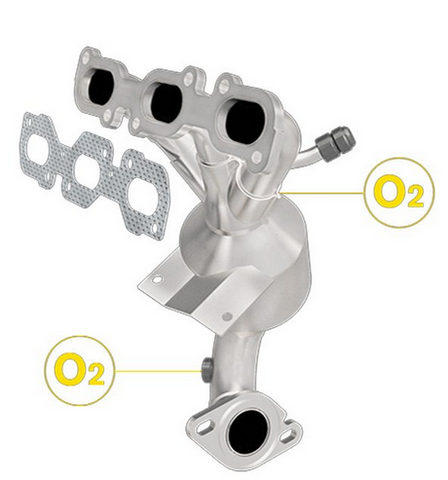 MagnaFlow 452012 - Stainless Steel Exhaust Manifold with Integrated Catalytic Converter