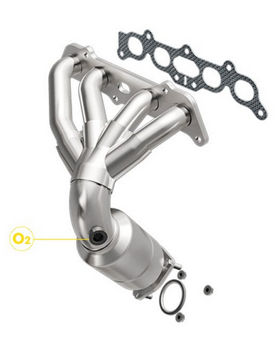 MagnaFlow 452016 - Stainless Steel Exhaust Manifold with Integrated Catalytic Converter