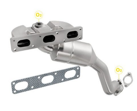 MagnaFlow 452430 - Stainless Steel Exhaust Manifold with Integrated Catalytic Converter