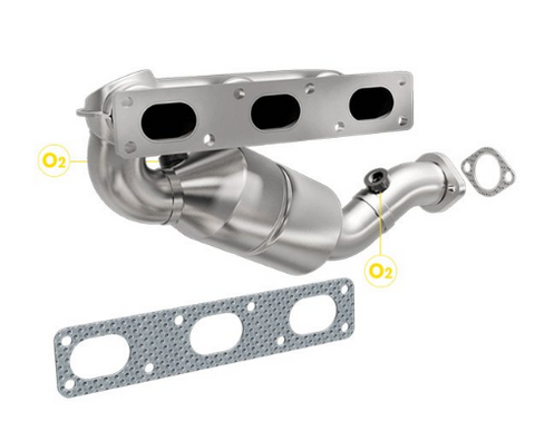 MagnaFlow 452466 - Stainless Steel Exhaust Manifold with Integrated Catalytic Converter