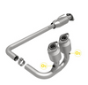 Image of Magnaflow 458027 Large Stainless Steel Ca Legal Direct Fit Catalytic Converter