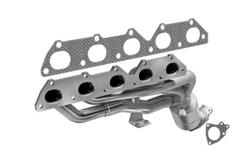 MagnaFlow 50383 - Heavy Metal Stainless Steel Exhaust Manifold with Integrated Catalytic Converter