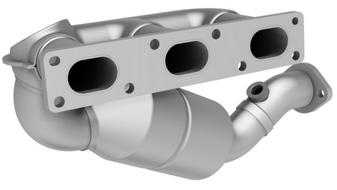 MagnaFlow 50466 - Heavy Metal Stainless Steel Exhaust Manifold with Integrated Catalytic Converter