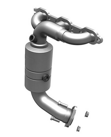 MagnaFlow 51394 - OEM Grade Stainless Steel Exhaust Manifold with Integrated Catalytic Converter