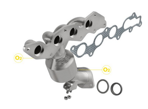 MagnaFlow 52216 - OEM Grade Stainless Steel Exhaust Manifold with Integrated Catalytic Converter