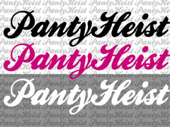 "Two 12"" PantyHeist Stickers"