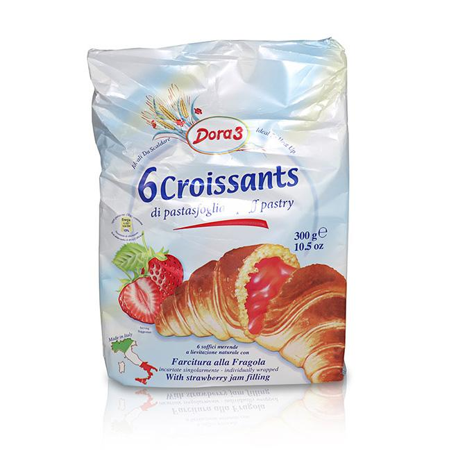 Croissants with Strawberry Jam Filling