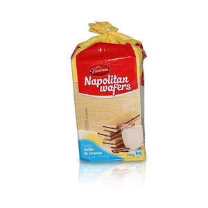 Napolitan Cubes with Milk & Cocoa Cream Filling