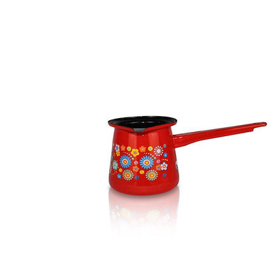 Small Red Pot with Handle