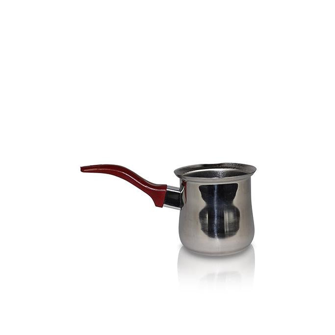 Smal Silver Pot with Red Handle