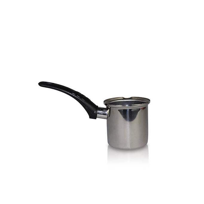 Smal Silver Pot with Black Handle