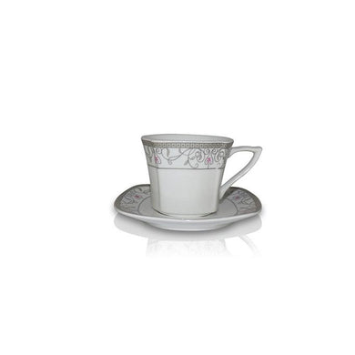Tea Set (6 Cups, 6 Plates) - Vine Design