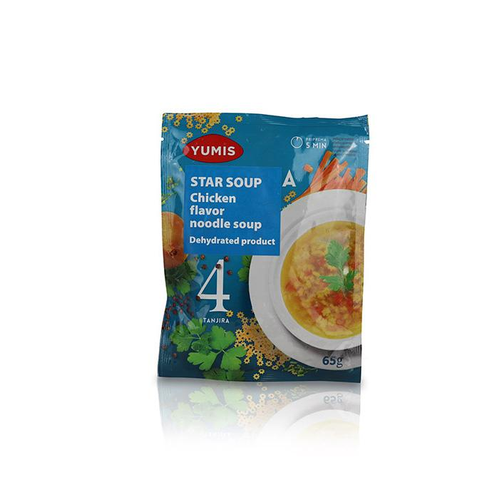Chicken Flavor Noodle Soup with Stars